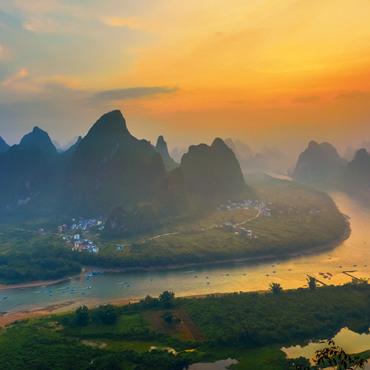 One-day Panoramic Li River Hike (from Xianggongshan to Xianei)